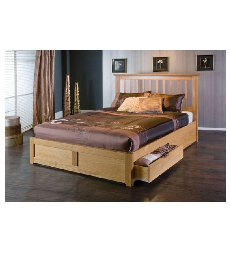Tangier Calming King Size Bed With Storage With Images Wooden