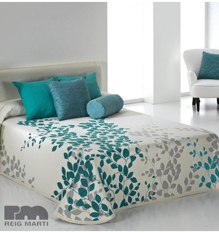couvre lit tiss jacquard geisha bleu a 2 accessoire cuisine pinterest bed bed sheets and. Black Bedroom Furniture Sets. Home Design Ideas