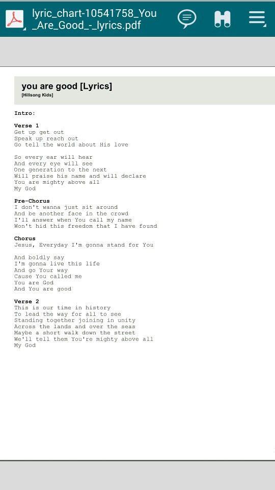 You Are Good Lyrics Cool Lyrics Lyrics Hillsong Kids