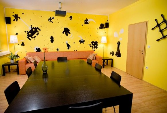 Exciting Interior With Wall Decals Decorations For Your Room for Sticker  Murals Love Wall Decal Vinyl for Wall Decals Decal Wall Art Mesmerizing The  Flower. Nice Design Of Office Space With Yellow Color   Kaasa health s