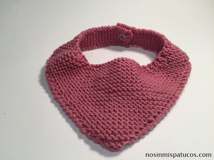 Bandana para bebé tejida a dos agujas | bebe | Pinterest | Para ...