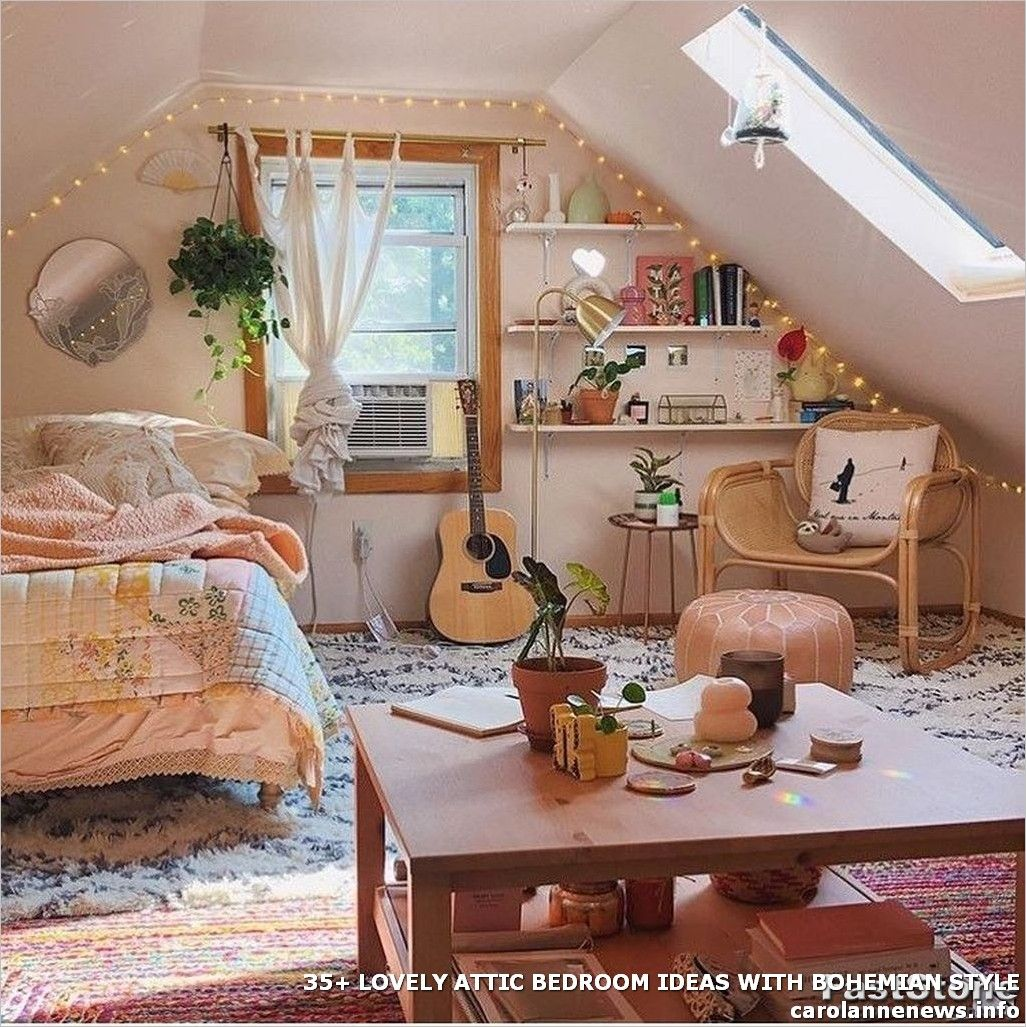 35 Lovely Attic Bedroom Ideas With Bohemian Style Room Ideas Bedroom Bedroom Design Room Inspiration