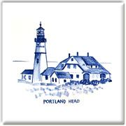Portland Head Light - columbiafallspottery.comClassic Delft style tiles for your kitchen splash back, fireplace or bath surround. Custom lighthouse, sail boats and sea birds hand painted by April Adams.