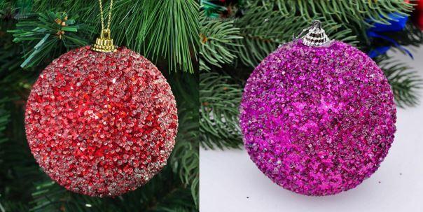 Décorer des boules polystyrène en boules de Noël | Boule de noel