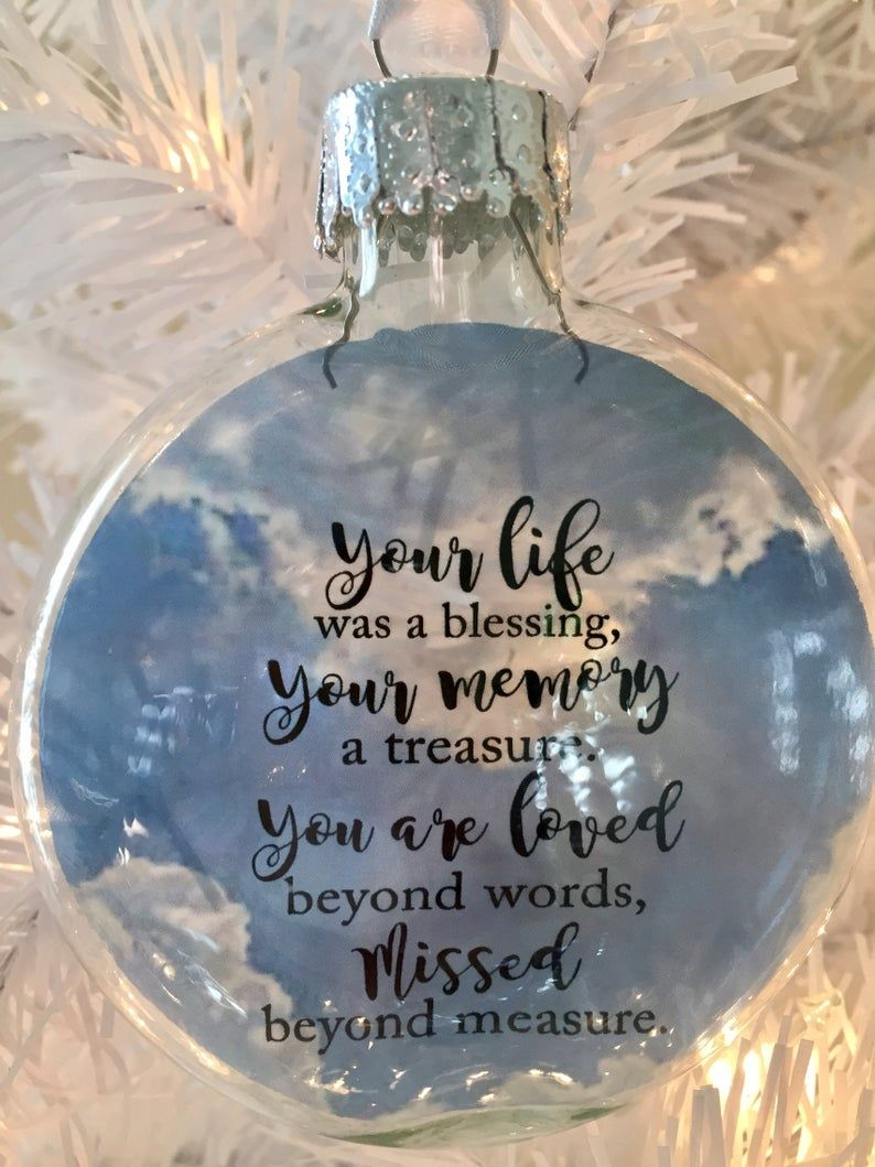 Your Life Was A Blessing Memorial Ornament Photo Christmas Ornaments Memorial Ornaments In Memory Christmas Ornaments