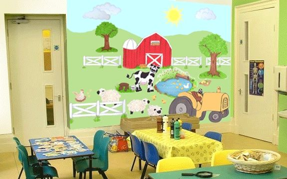 Barnyard Whole Room Mural - Create-A-Mural | Decorations | Pinterest ...