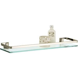 Neu Home Glass Shelf with Nickel Rail Glass shelves