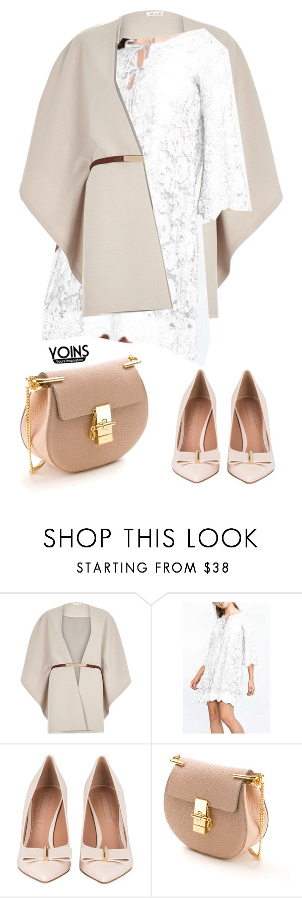 """""""YOINS CONTEST WHITE DRESS"""" by kafetoo ❤ liked on Polyvore featuring River Island, Chloé and yoins"""