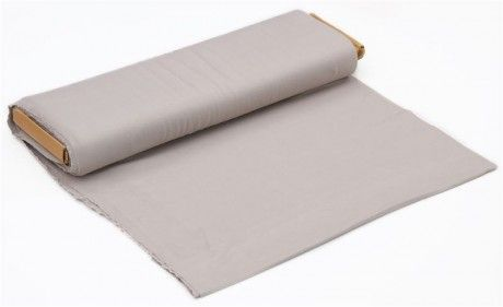 solid taupe birch knit organic fabric from the USA