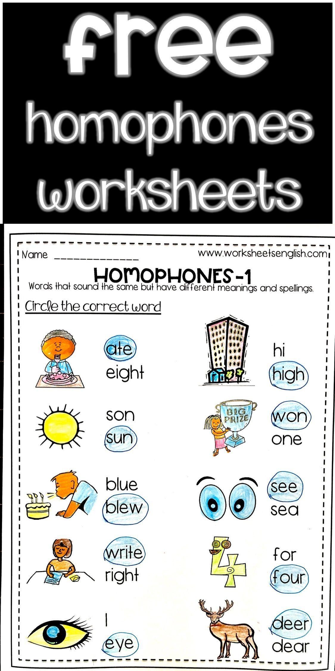 Homophones Worksheet And Exercises Free Www Worksheetsenglish Com In 2021 Homophones Worksheets Homophones Worksheets