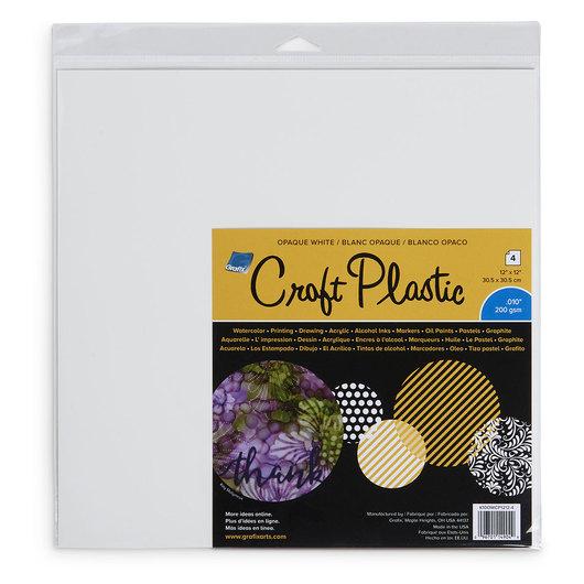 grafix opaque white craft plastic