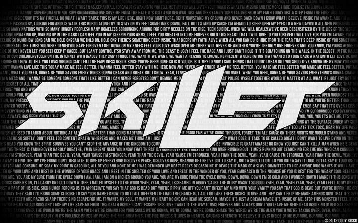 Skillet....a actually REALLY sweeeeeet rock band! ...even though/if its christiany.....