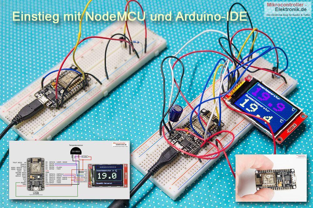 Esp12e Tutorial Und Beispielprojekte Wie Esp12e Adaptermikrocontroller Elektronik De Arduino Arduino Projekte Arduino Sensoren