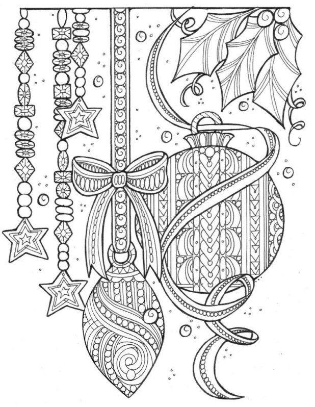Christmas coloring page | December coloring | Pinterest | Mandalas ...