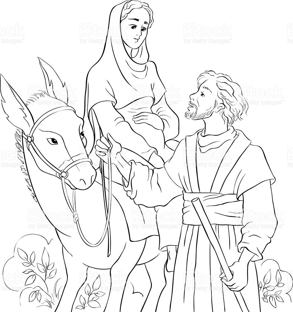 33+ Coloring page of mary and joseph download HD