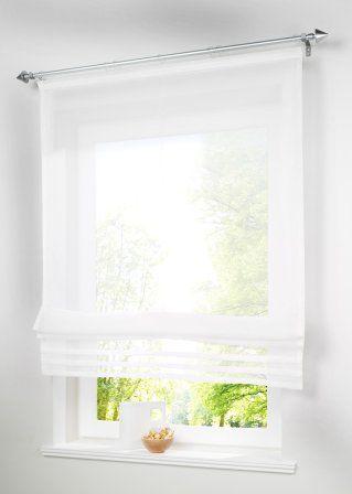 eine hauchzarte idee f r ihr fenster das luftig leichte raffrollo inspirations for home. Black Bedroom Furniture Sets. Home Design Ideas