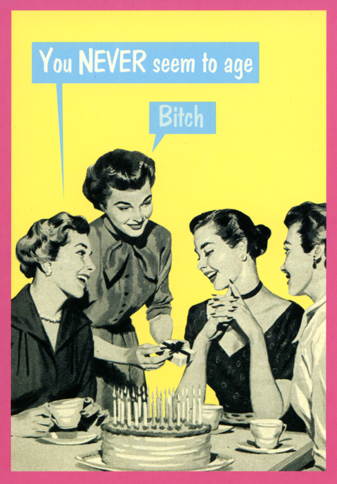 You never seem to age card companies funny birthday and kiss funny birthday card by kiss me kwik you never seem to age comedy card bookmarktalkfo Gallery
