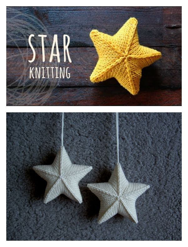 Photo of 3D Star Ornament Free Strickmuster