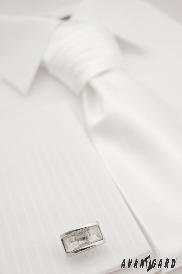 Pánská košile se saténovou regatou a manžetovými knoflíčky AVANTGARD ... 63a9886a08