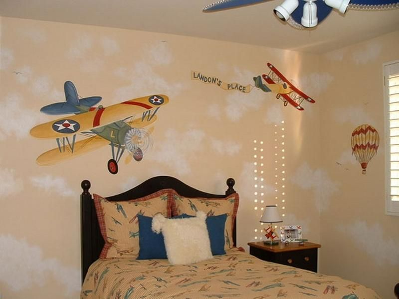 15 Cool Airplane Themed Bedroom Ideas for Boys - Rilane   everett's