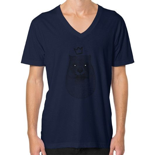 King Wombat V-Neck (on man)