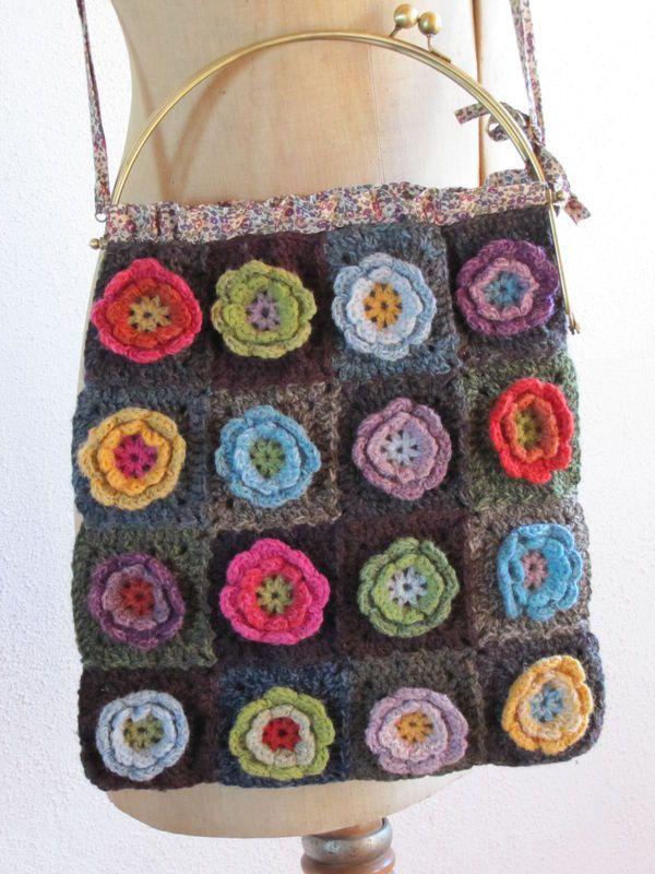 Tuto Granny Fleur L Atelier De Marie Crocheting Bags Purses