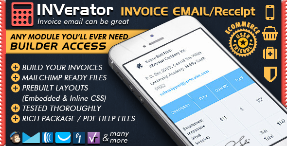 Invoice Template Receipt Ecommerce Email Marketing Online Editor Mailchimp Newsletter R Email Marketing Template Marketing Plan Template Invoice Template