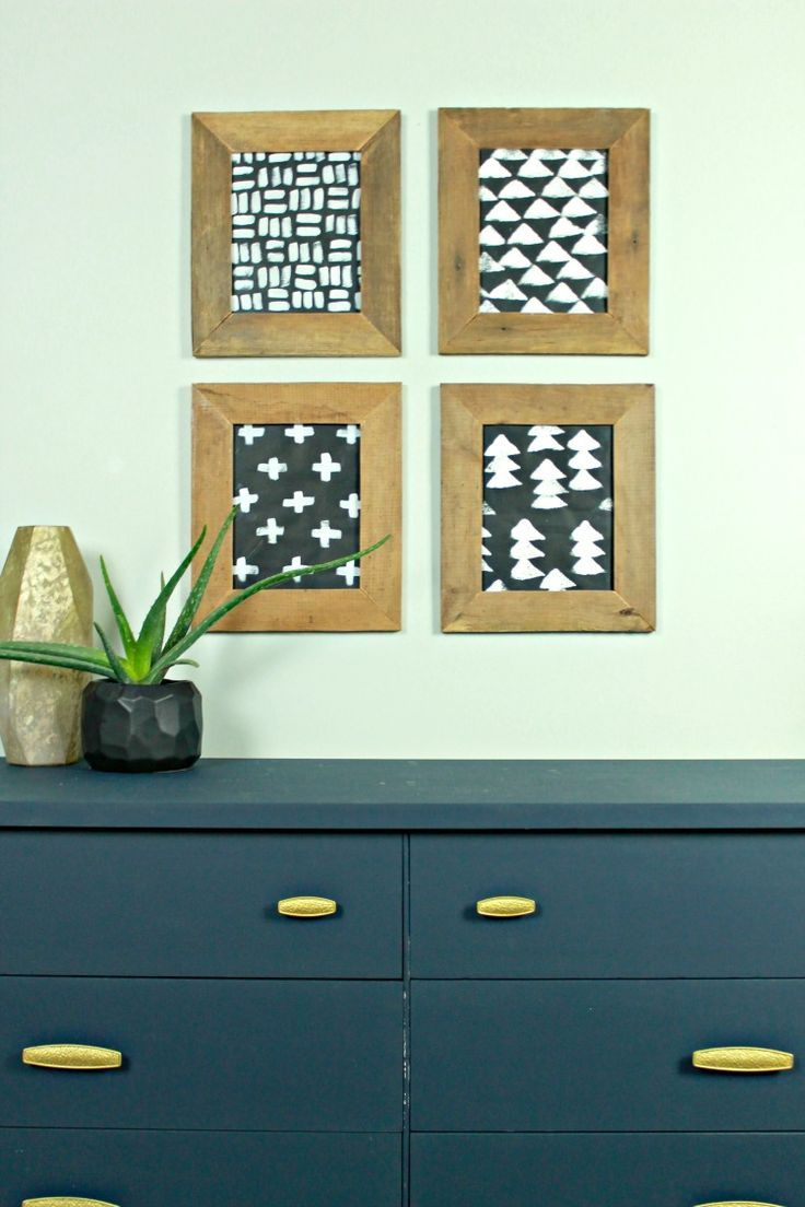 Diy modern christmas wall art the easy way to hang picture frames