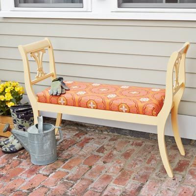How To Build An Outdoor Bench From Dining Chairs Furniture Makeover Diy Chair Old Chairs