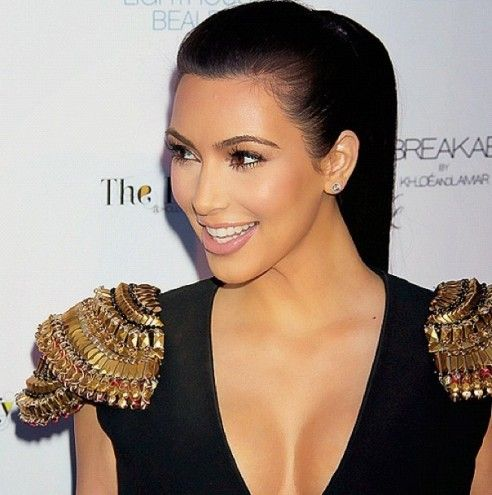 Kim Kardashian at the Unbreakable Launch hair by Rob Scheppy