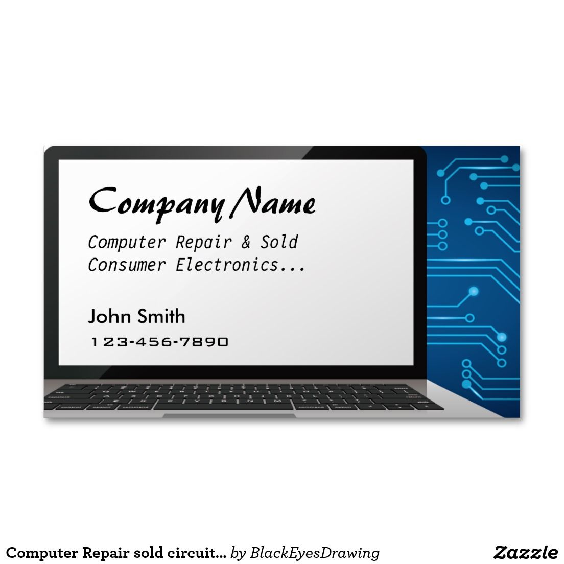 Computer Repair Sold Circuit Board Business Cards Pinterest Logo