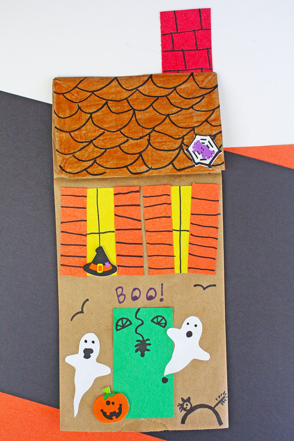 34++ Paper bag haunted house craft ideas