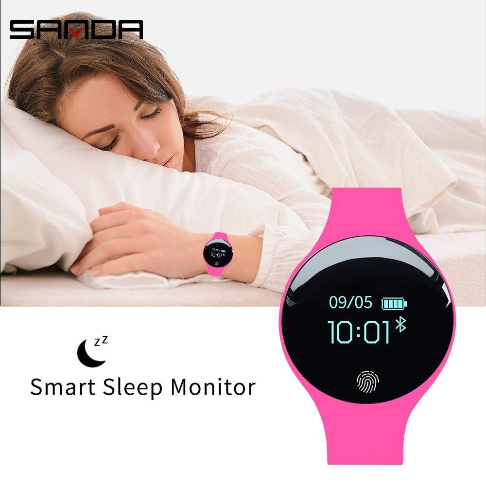 Sanda Bluetooth Pedometer Sport Smart Watch Soft Silicon Smart Touch Remote Camera Watches For Ios Android Reminder Waterproof Digital Watches