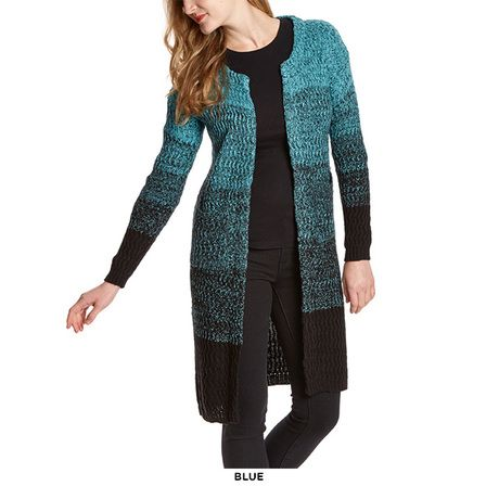 Vivo Fashion Open-Front Ombre Duster Cardigan - Assorted Colors at ...