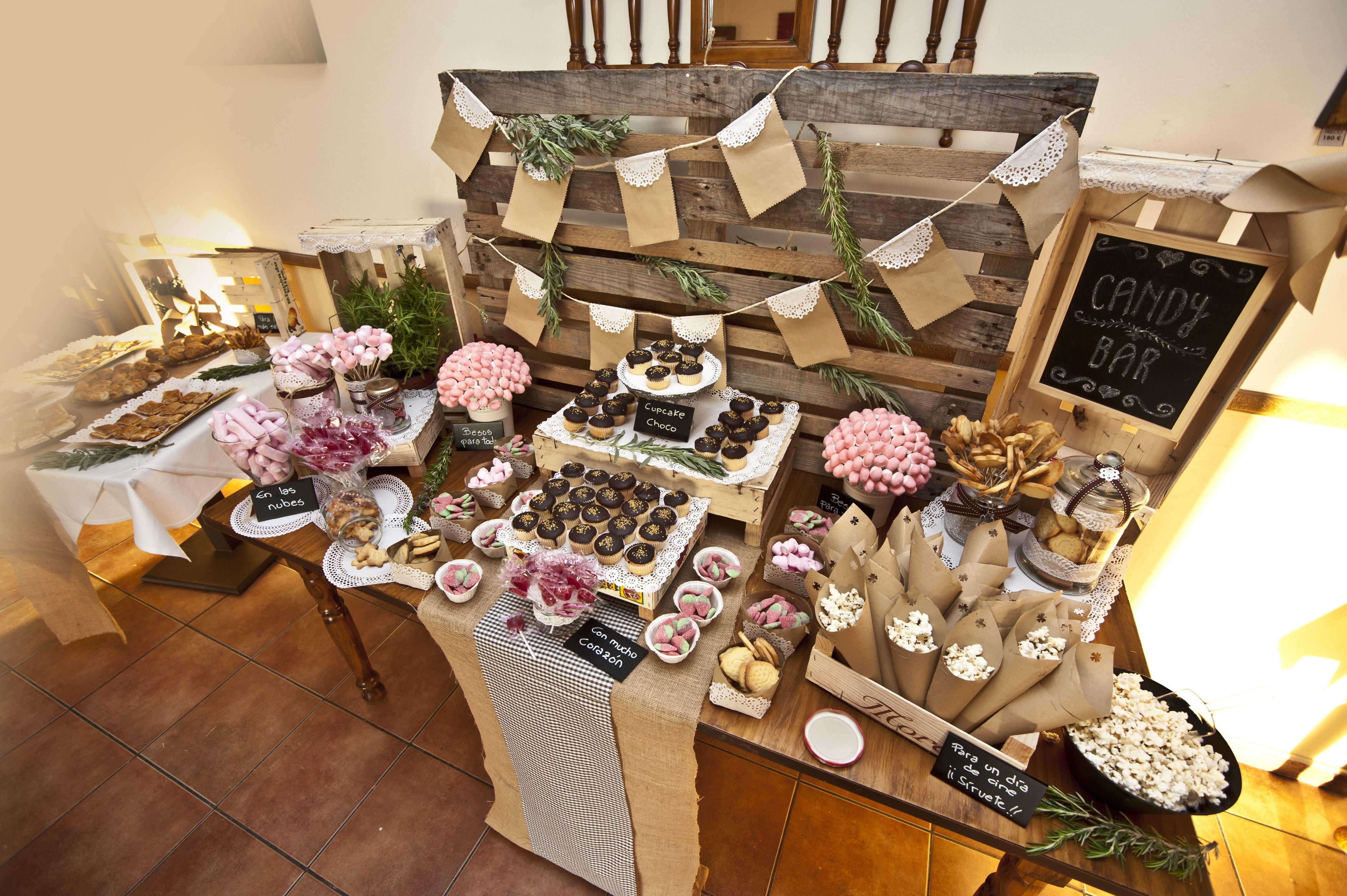 Mesa dulce r stica realizada en el restaurante ginebre - Decoracion alicante ...