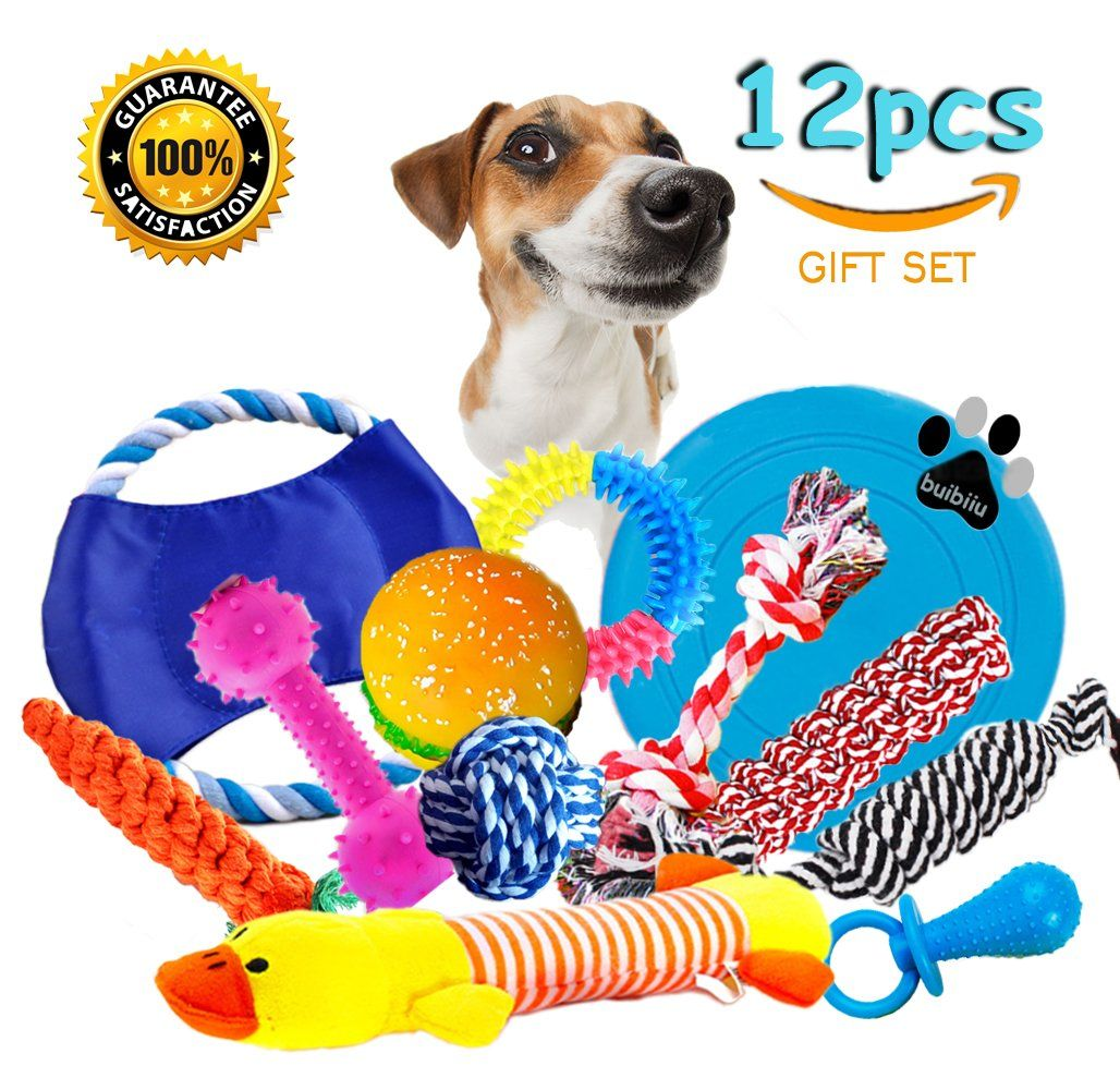 Dog Rope Toys Dog Teething Toys Best Chew Toys For Teething Puppy 12 Pcs Gift Set Click Image For More Details Dog Teething Toys Toy Puppies Best Dog Toys