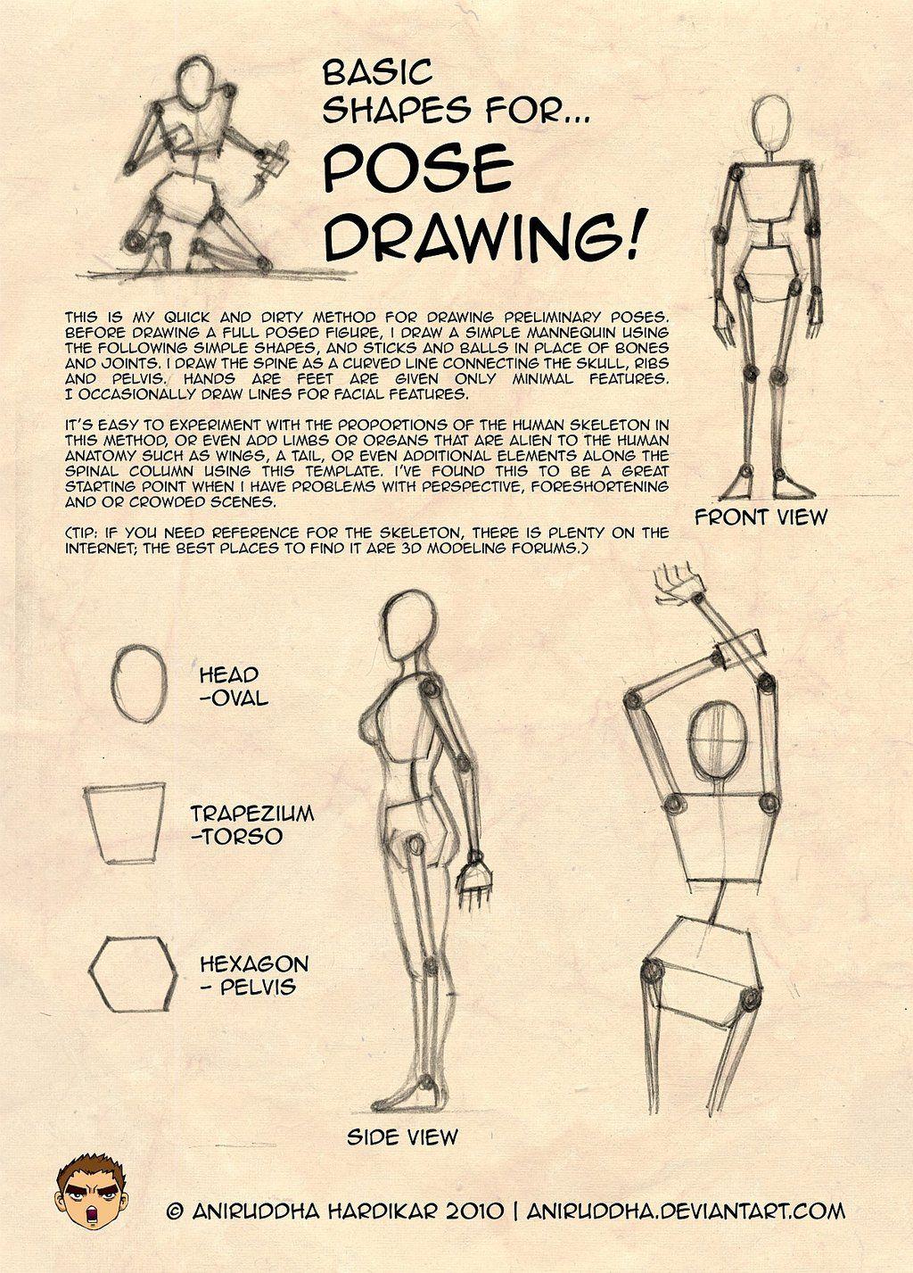 Basic Shapes for Pose Drawing by aniruddha.deviantart.com ...