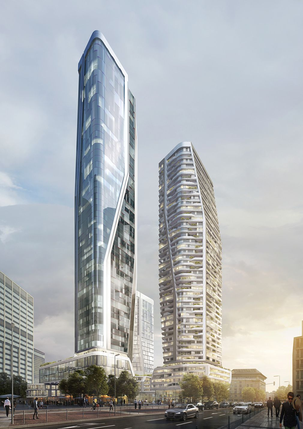 Unstudio Wins Architectural Competition For Deutsche Bank Site Revival In Frankfurt Edificios Modernos Torre Arquitectura Y Edificios
