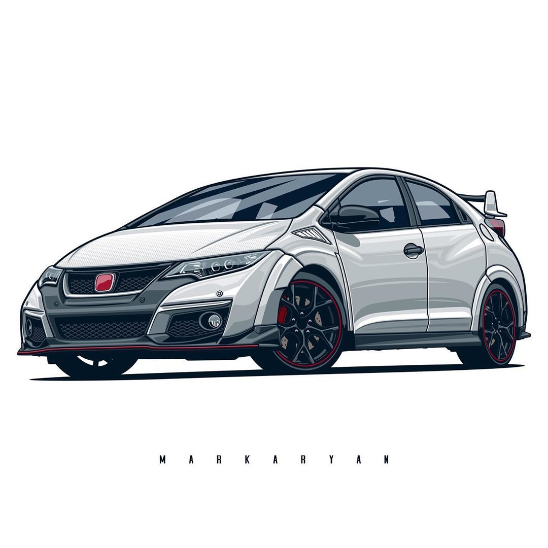 Oleg Markaryan On Instagram Honda Civic Type R T Shirts Covers Stickers Posters Already Available On Redbubble L Honda Civic Type R Honda Civic Civic