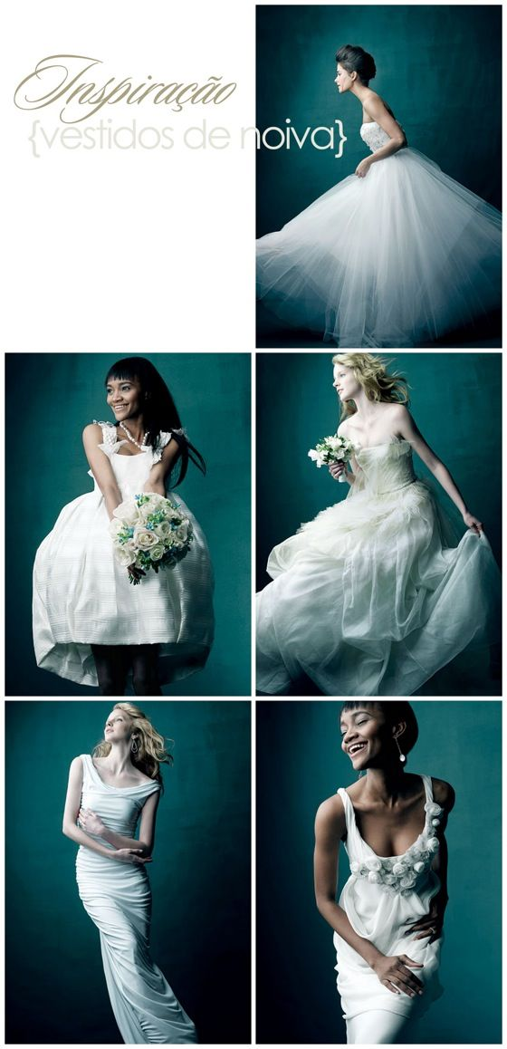 {Inspiração} Vestidos de Noiva | Casamenteiras