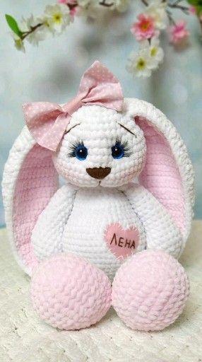 Photo of Häkeln Sie Häschenmuster, Osterhasenmuster, personalisierte Häschenhäkelarbeit für Baby. Amigurumi-Muster