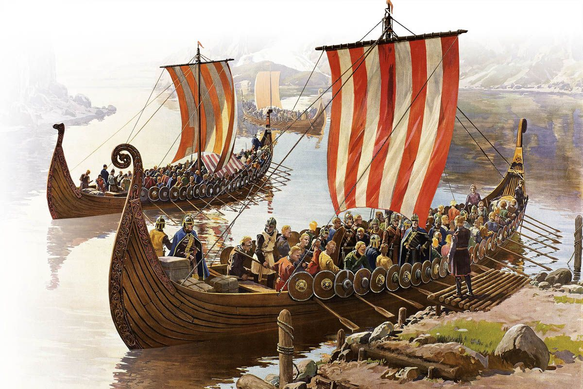 Una de vikingos abarrotando drakkar. Más en www.elgrancapitan.org/foro
