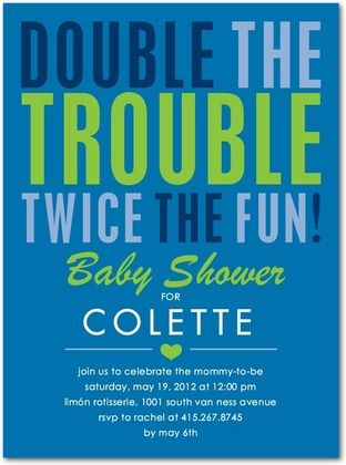 1st birthday invite double the trouble twice the fun maddie