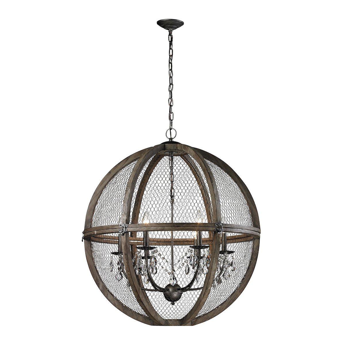 Renaissance Invention Wood And Wire Chandelier - Large | Renaissance ...