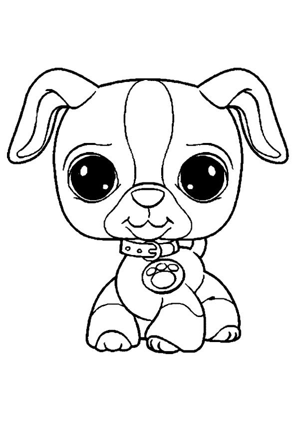 print coloring image Pet shop and Printing - best of coloring pages of littlest pet shop dogs