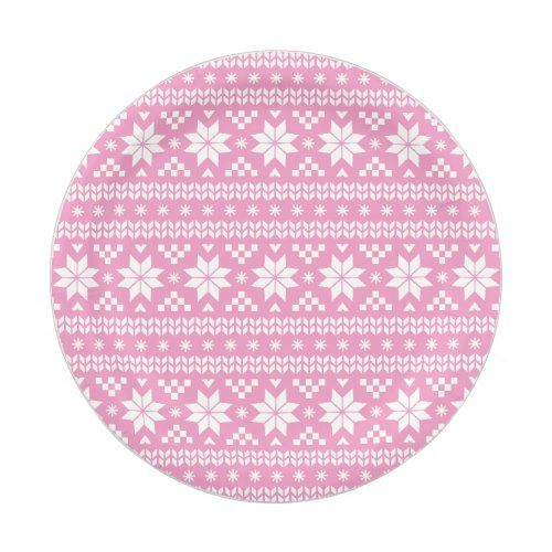 Pink Fair Isle Christmas Sweater Pattern Paper Plate  sc 1 st  Pinterest & Pink Fair Isle Christmas Sweater Pattern Paper Plate | Christmas ...