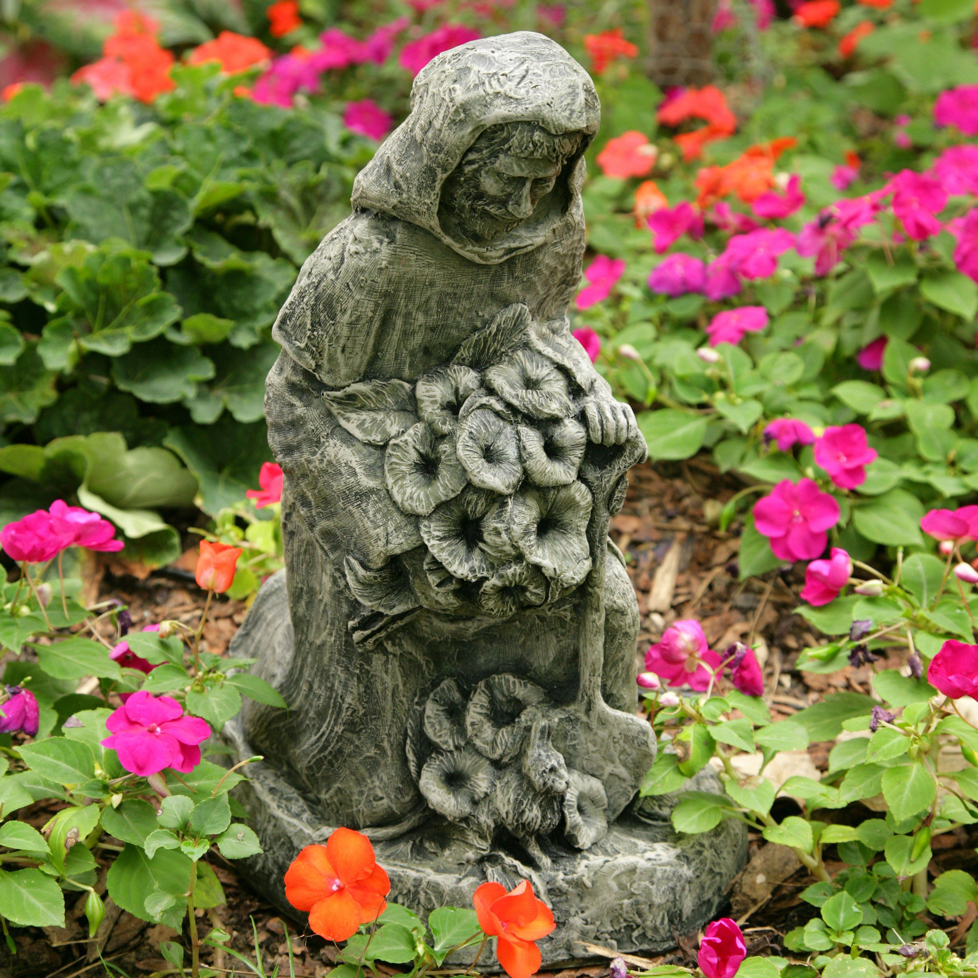 St. Fiacre In The Garden Statue | From Hayneedle.com