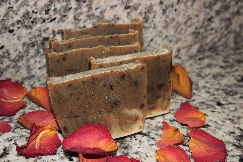 Pine Tar & Frankincense Homemade Lye Soap Bars All Natural