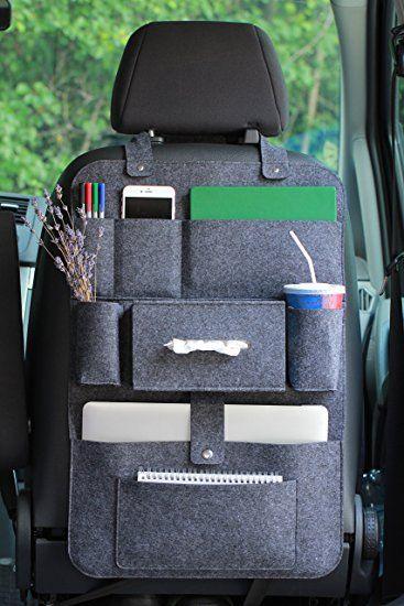 r cksitzorganizer autositz filz organizer mit multitasche 62x41cm luckysign dunkelgrau van. Black Bedroom Furniture Sets. Home Design Ideas