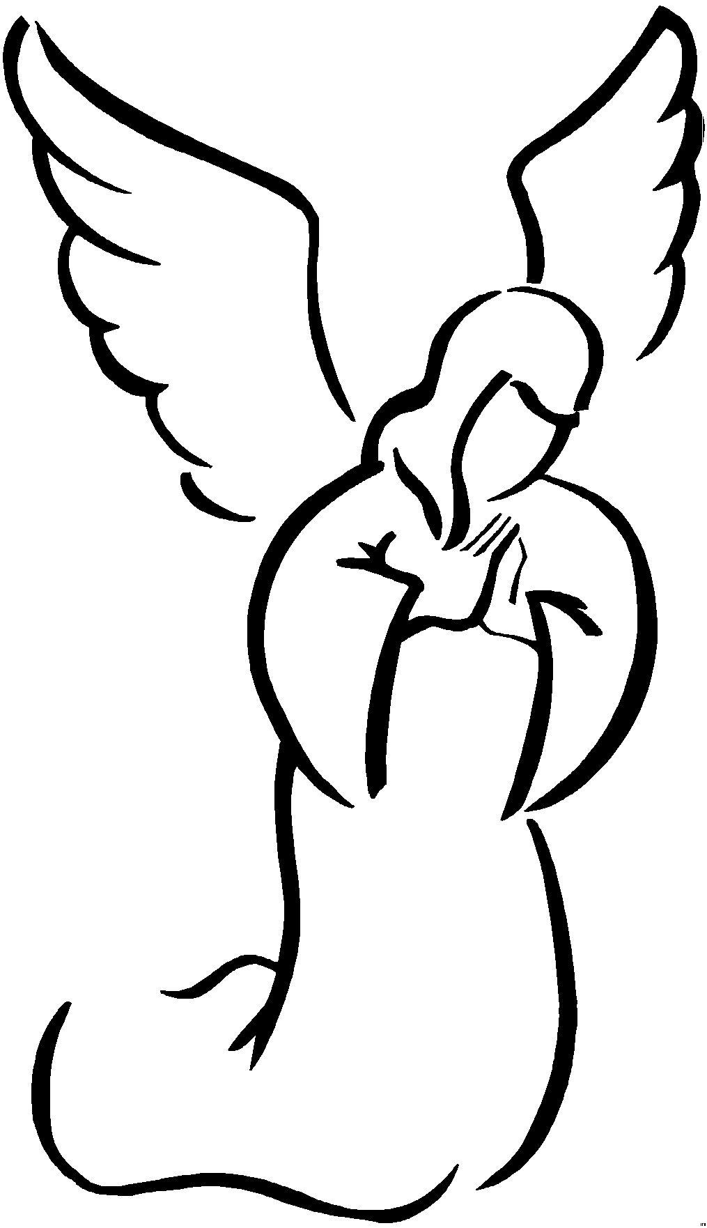 Malvorlagen Engelsflügel Kostenlos   Angel drawing, Angel ...